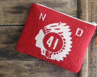 SALE Southwestern Zip Clutch Zipper Pouch Boho Cotton Native American Accessories Women Nashville Tennessee