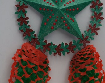 One 6 x 9 inches Miniature Filipino Paper Christmas Lantern AKA Parol - Christmas Tree Ornaments