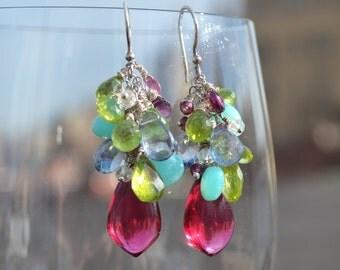 spring cluster earrings...