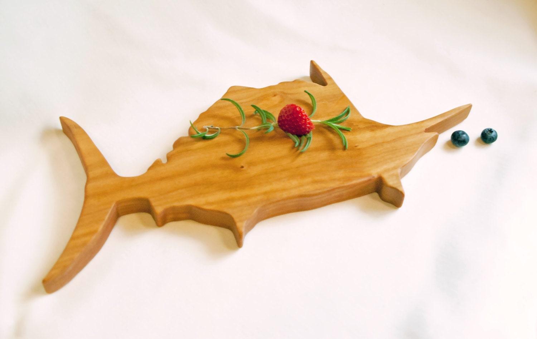 Fish cutting board swordfish wood tray sportsman by for Fish cutting board