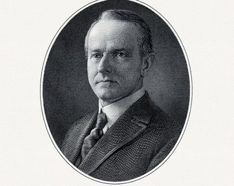 Bureau of Engraving and Printing reproduction Intaglio engraving 8 x 10 Calvin Coolidge