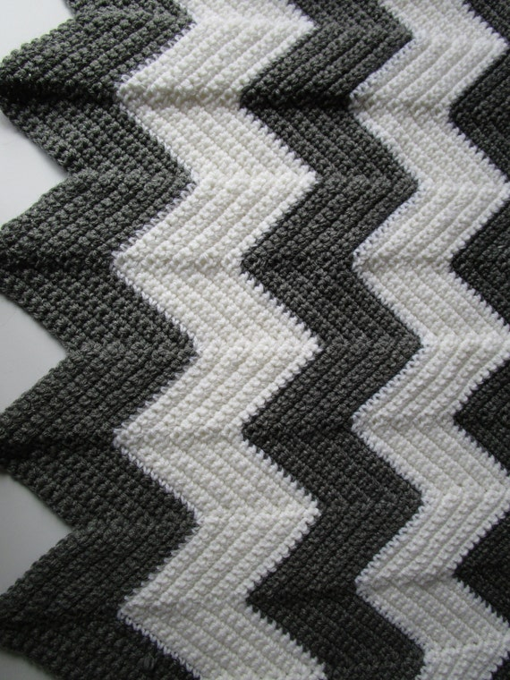 Crochet Patterns Chevron : Chevron Crochet Pattern, Easy Crochet Blanket Pattern, Crochet Ripple ...