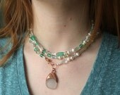 Bubbling Sea Foam-Genuine Sea Glass Necklace from the Coast of Maine