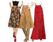 70s Pleated Skirt Maxi Skirt & Culottes Pattern Simplicity 8248 Vintage Sewing Pattern Size 10