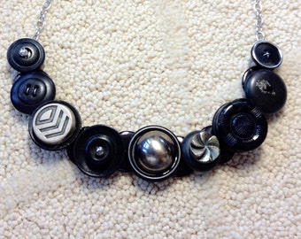 SALE, Industrial Style button necklace