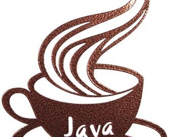 Hand Made Coffee Java Simple Silhouette