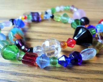 Mixed Glass Beads 2-25mm 15 inch strand (item number 4159CL)