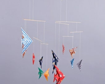 Mobile with 14 Origami Fish