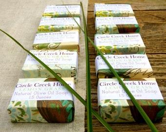 Lemon Grass 10 Mini Bar Collection Handmade Soap - FREE Shipping