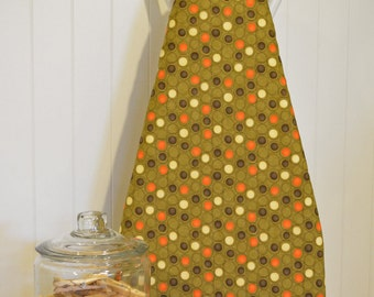 New!  Designer Ironing Board Cover - Moda Grand Finale Circles and Dots in Moss