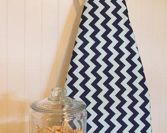 Designer Ironing Board Cover - Riley Blake Medium Chevron in Aqua/Navy