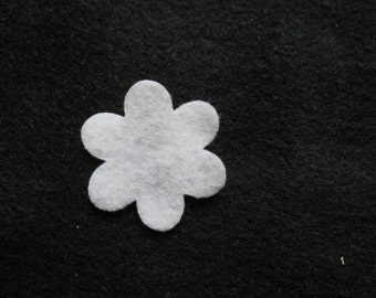 Felt 6 Petal Flower White DIY Kits for Independent Consultants Parties-Hair Accessories Decorations-Costume Embellishments