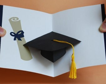 Graduation Cap Pop-Up Card - Congratulations