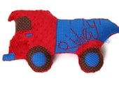 Dump Truck Pillow, Personalized, Custom Construction Truck Plush Pillow, Toddler Plush Toy, Baby Shower Gift, Custom MADE TO ORDER