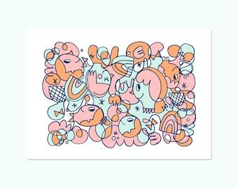 A4 Giclee Art Print - Chasing Rainbows
