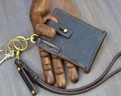 ID Key Ring Original Design, Hand Made, Brown Leather, Key Ring, Leather ID, Brown Leather ID Key Ring, Leather Keychain