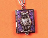 Owl Love Book, purple and silver, holding 14 ways to say 'I love you' from around the world.