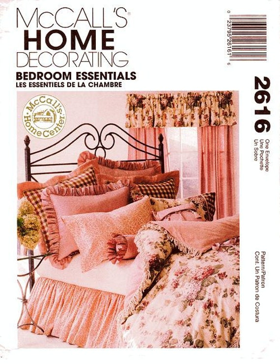 Mccall 39 s home decor pattern 2616 bedroom essentials for Bedroom necessities