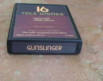 Atari Gunslinger Target Shoot Tele Games 16 Sears 1978 Atari Video Games