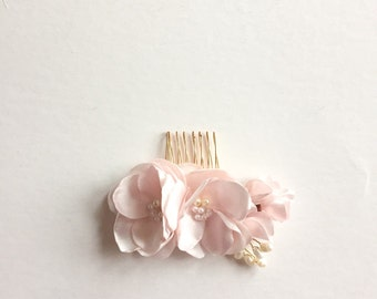Bridal Hair Comb Cherry Blossom Pink Spring Summer Wedding Bridal Party
