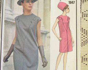 Vintage Vogue uncut Pattern 1947 - designer, size 14, Molyneux