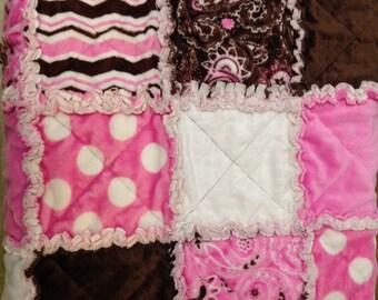 Baby rag quilt (micro fleece/flannel)