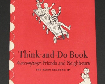 1943 Think and Do Book to accompany Friends and Neighbors - Dick and Jane series - 2nd grade - NEW - unused workbook