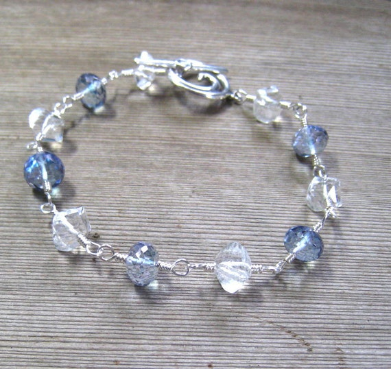 Blue Topaz Bracelet White Topaz Mystic Blue By