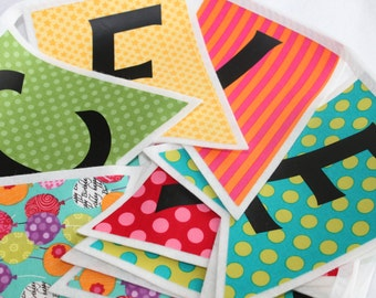 Celebrate Banner - Felt Party Banner - Circus Birthday Party - Bright Celebrate Sign