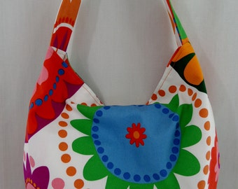 Slouchy BAG, Extra Large Hobo BAG, Diaper Bag, Spring Summer Slouch Purse, Beach Bag, Abstract IKEA