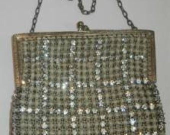Antique Vintage Rhinestone Evening Purse