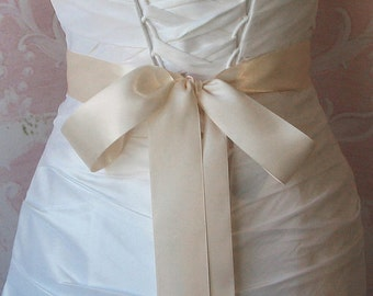 Double Face Nude Satin Ribbon, 1.5 Inch Wide, Ribbon Sash Petal Pink, Bridal Sash, Wedding Belt, 4 Yards