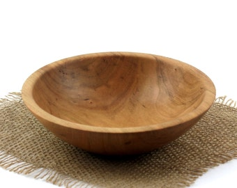 Small Wooden Cherry Salad Bowl / Candy Dish