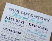 NEW - Our Love Story Sign - Custom Wedding / Newlywed Decor - 11x14 - Custom Colors Available