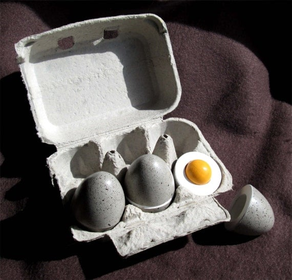 Time To Play With Your Food   Wood Hard Boiled Eggs/3