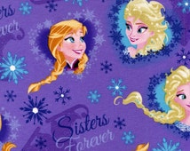 Disney Frozen Sisters Ice Skating Heart Framed - Springs Creative - 1 yard - More Available