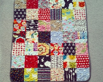 OOAK brightly coloured, vibrant patchwork quilt.