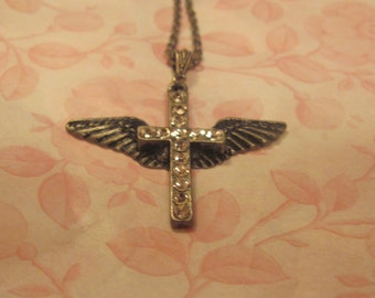 Winged Cross Necklace