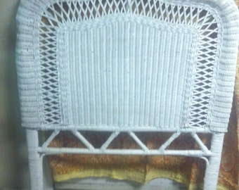 White Wicker Headboards Two Twin Or One King