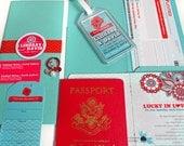 The Lindsay Passport Style Invitation
