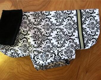New Damask Print Dog Rain Jacket, Dog Rainjacket, Dog Coat, Dog jacket, Dog Jackets, pet clothing