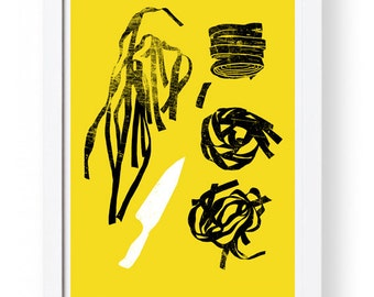 "Fresh Pasta 2 - art print 11""x15 - archival fine art giclée print"