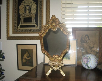 Beautiful Vintage Art Nouveau Mirror Made in Italy Gilded Wall Mirror
