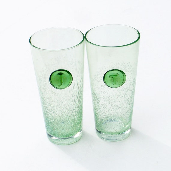 Vintage Green Glasses 80
