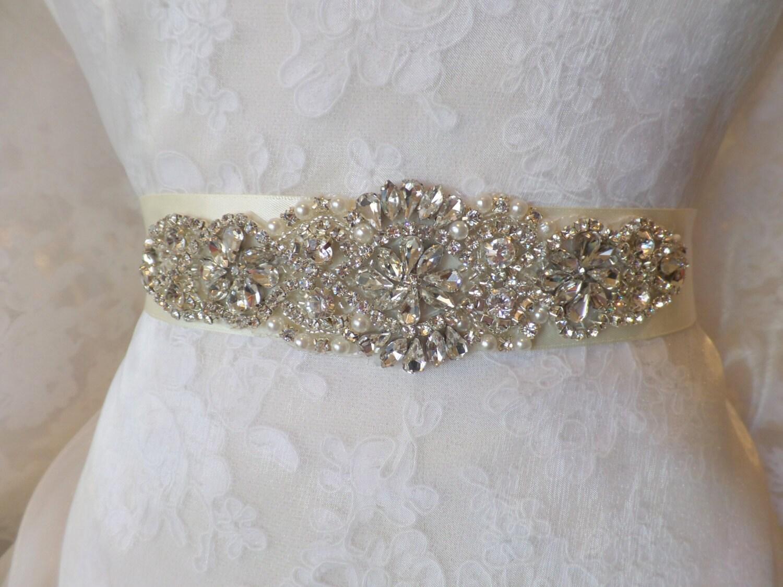 Wedding Belt Bridal Belt Sash Bridal Sash Belt Crystal