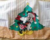 Mickey and Minnie Christmas Pillowcase