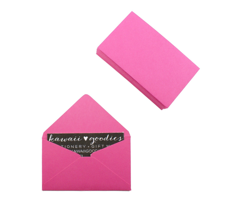 Business card envelopes 25 dark rose pink by kawaiigoo s
