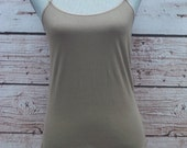 Taupe Layering Tank - Free Shipping to USA - lots of colors, adjustable straps