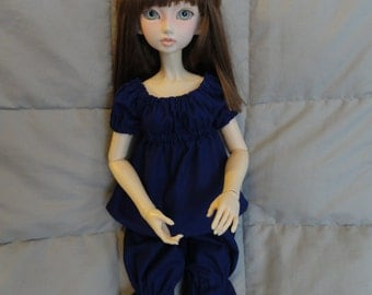 SD BJD Dollfie Chemise and Bloomers Purple