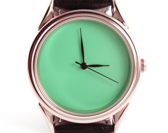 Turquoise watch - ascetic watch - unisex watches